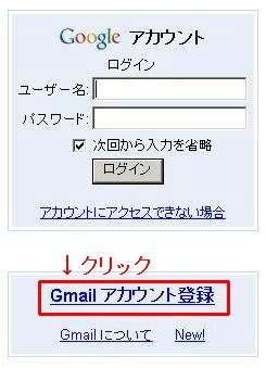 google アカウント登録