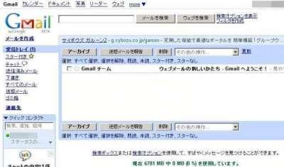 Gmail受信ボックス